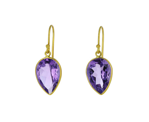Amethyst Pear Drop Earrings