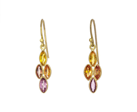 Colored Sapphire Drop Earrings