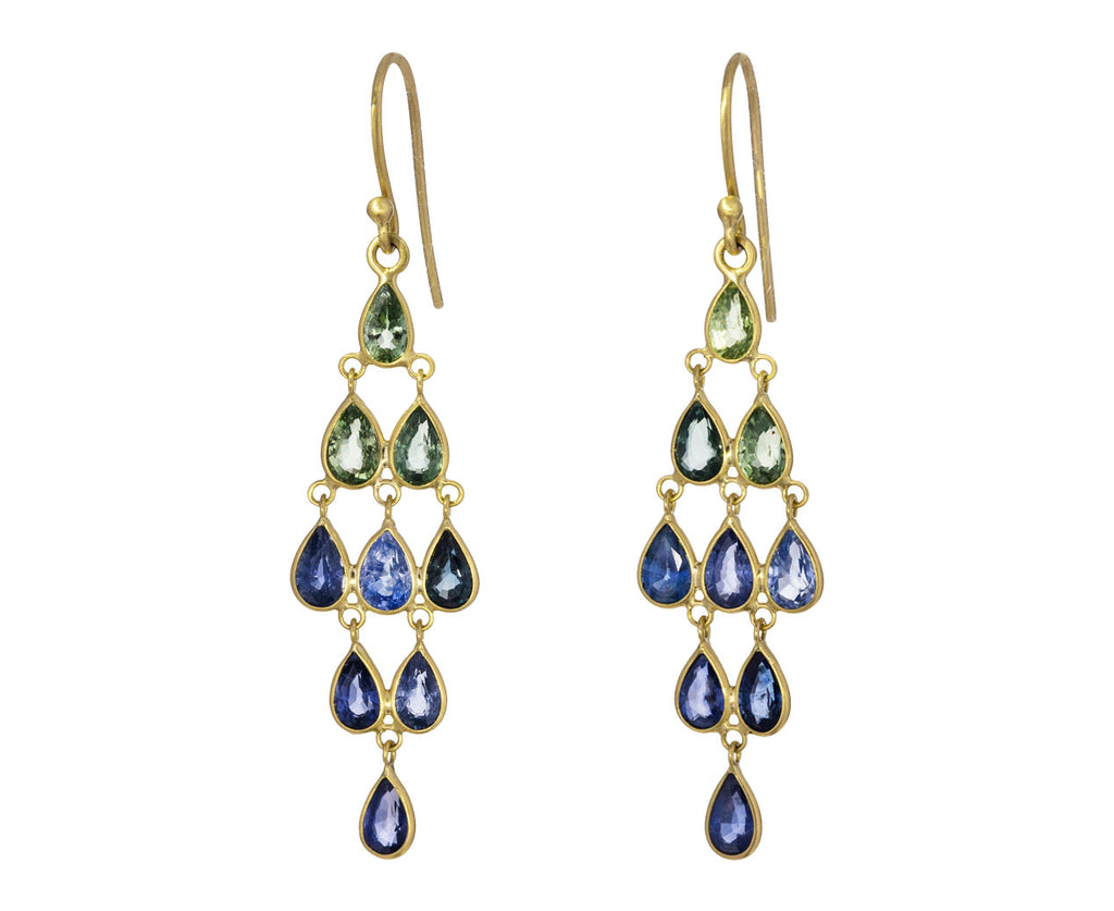 Ombre Sapphire Chandelier Earrings - TWISTonline