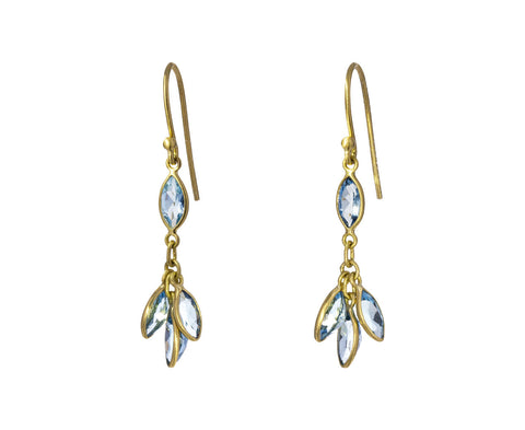 Aquamarine Bunch Drop Earrings