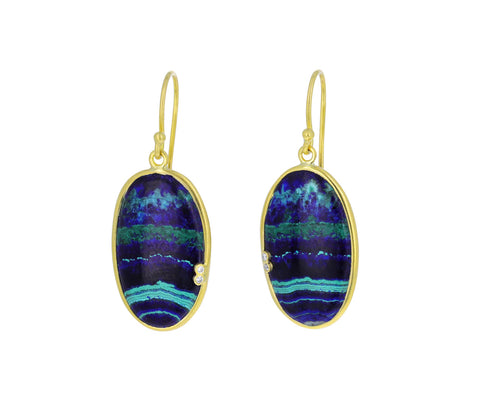 Azurite Malachite Vignette Earrings