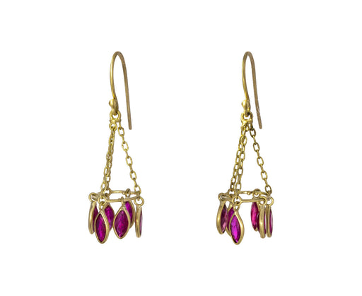 Ruby Round Chandelier Earrings - TWISTonline