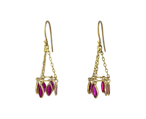 Ruby Round Chandelier Earrings
