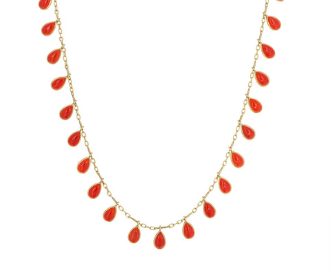 Coral Fringe Necklace - TWISTonline