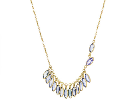 Marquise Sapphire Fringe Necklace