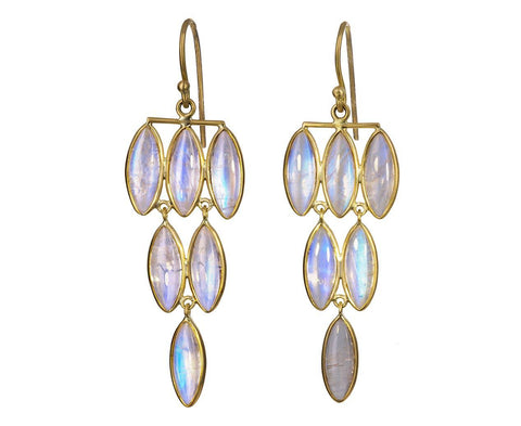 Rainbow Moonstone Fern Chandelier Earrings - TWISTonline