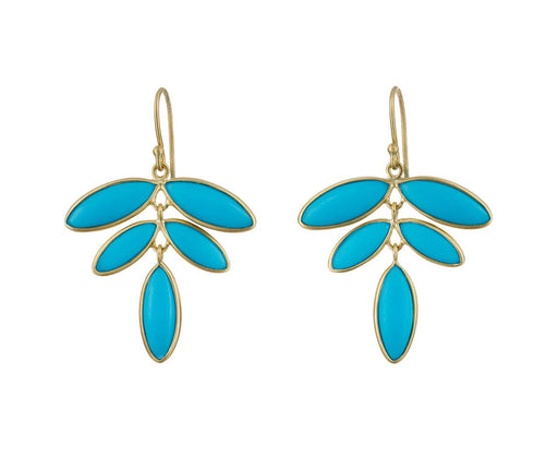 Turquoise Flora Earrings - TWISTonline