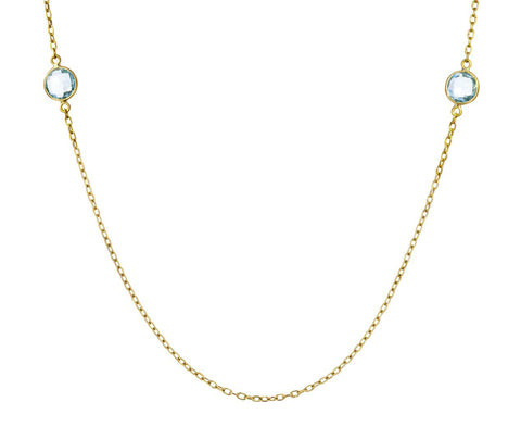 Blue Topaz Chain Necklace - TWISTonline