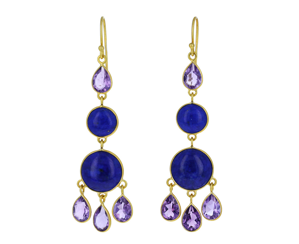 Amethyst and Lapis Petal Chandelier Earring - TWISTonline