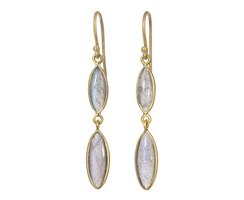 Labradorite Marquise Drop Earrings - TWISTonline