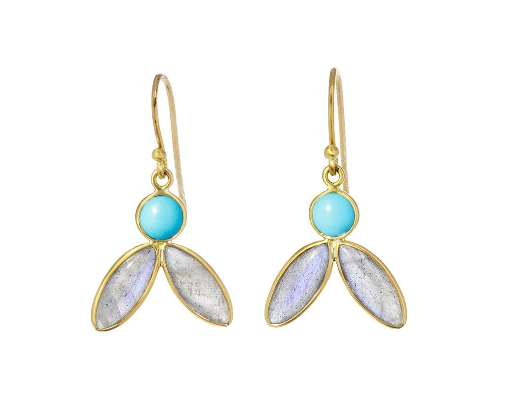 Turquoise and Labradorite Earrings - TWISTonline