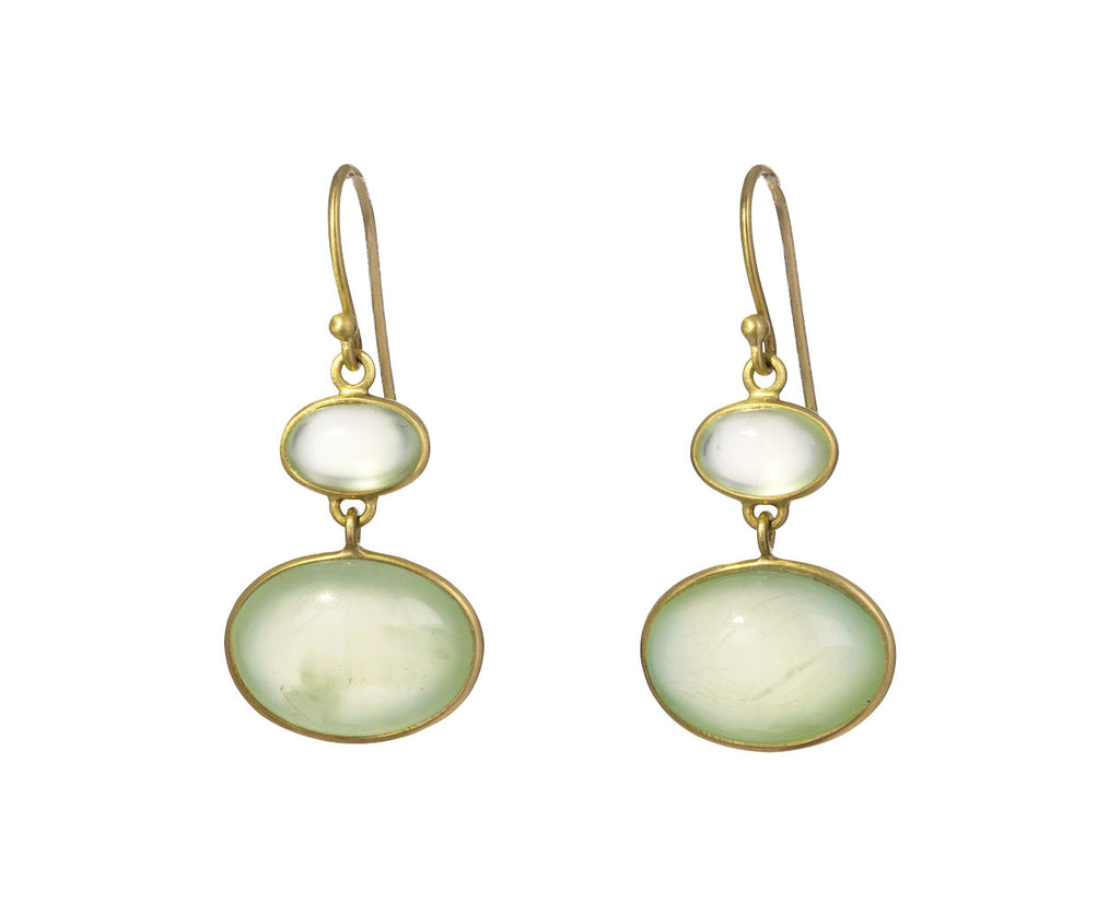 Double Drop Prehnite Earrings - TWISTonline