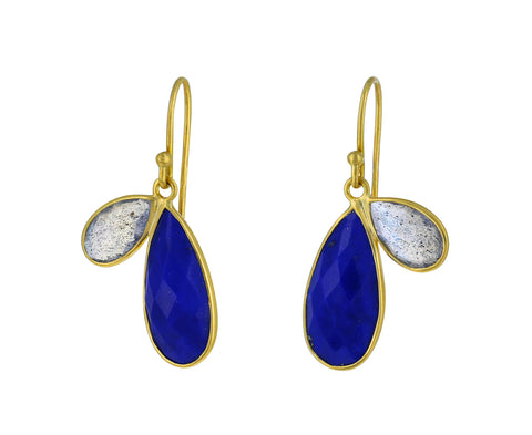 Lapis and Labradorite Fly Wing Earrings - TWISTonline