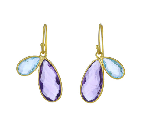 Amethyst and Topaz Fly Earrings - TWISTonline