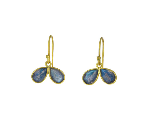 Labradorite Petal Earrings