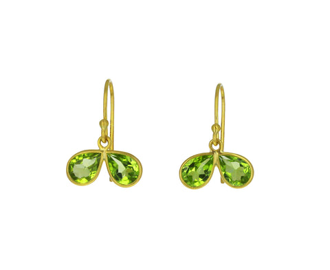 Peridot Petal Earrings