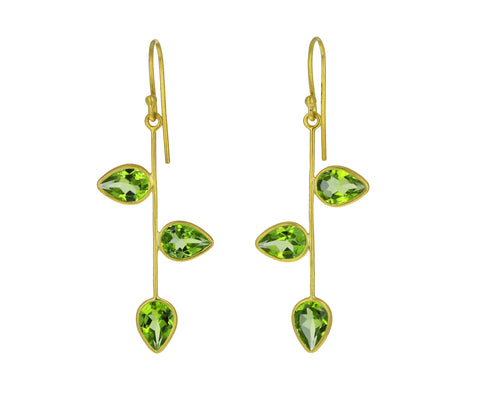 Peridot Vine Earrings