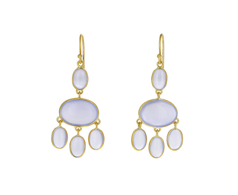 Classic Chalcedony Chandelier Earrings