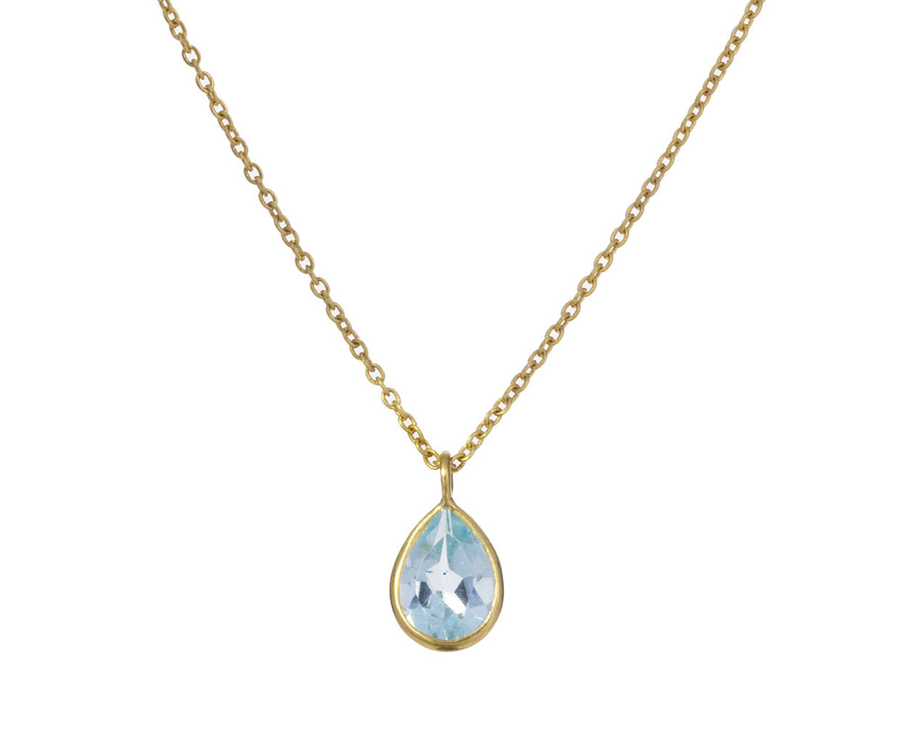 Blue Topaz Petal Pendant Necklace - TWISTonline