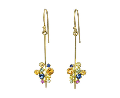 Multi Sapphire Stick Earrings - TWISTonline