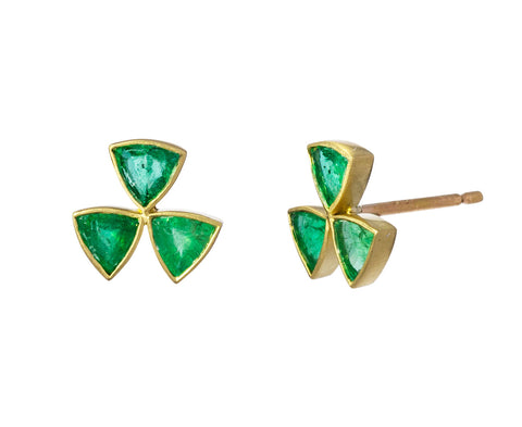 Emerald Hazard Post Earrings