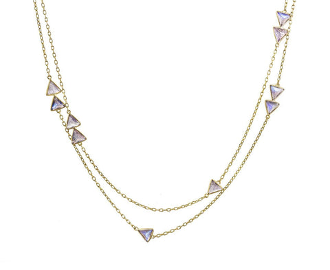 Labradorite Tiny Triangle Necklace - TWISTonline