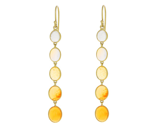 Ombre Mexican Fire Opal Earrings