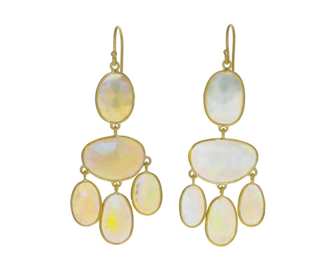 Ethiopian Opal Chandelier Earrings