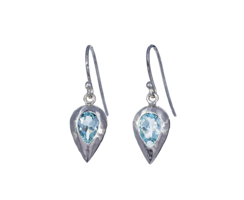 Inverted Blue Topaz Dewdrop Earrings - TWISTonline