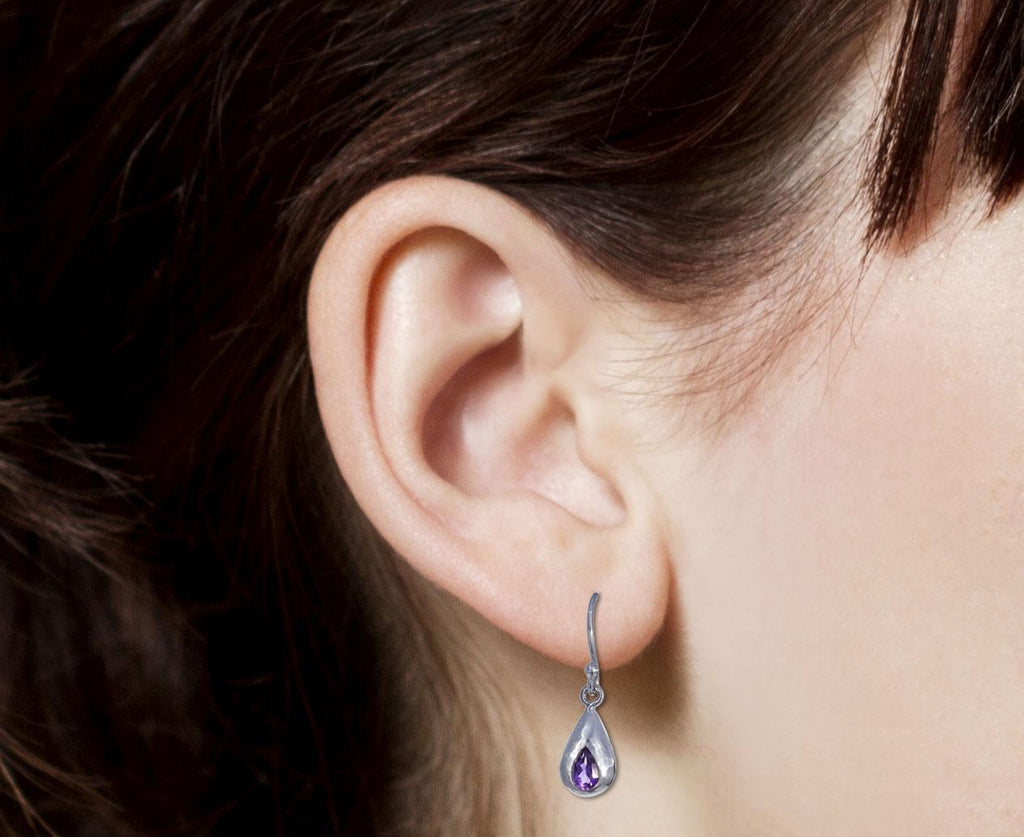 Amethyst Droplet Earrings - TWISTonline