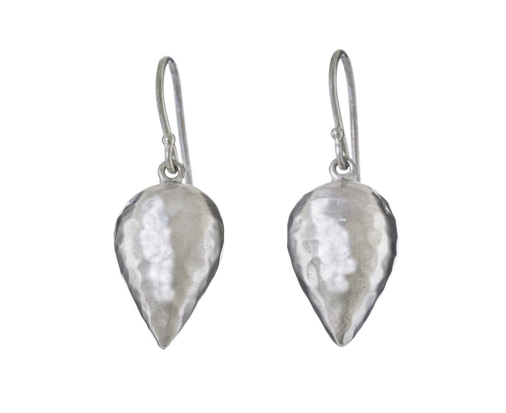 Large Silver Inverted Teardrop Earrings - TWISTonline
