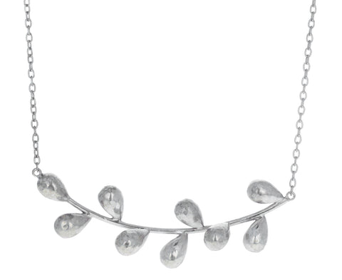 Silver Axis Drop Pendant Necklace