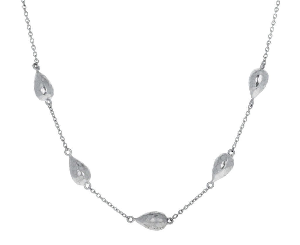 Silver Droplet Inline Necklace