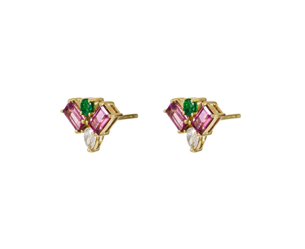 Multi-Gem Diamond Spectrum Earrings - TWISTonline