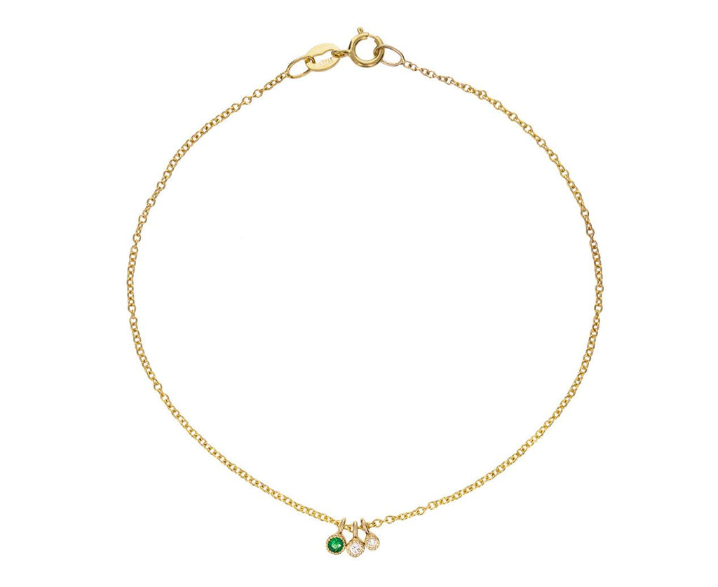 Emerald and Diamond Drop Bracelet - TWISTonline