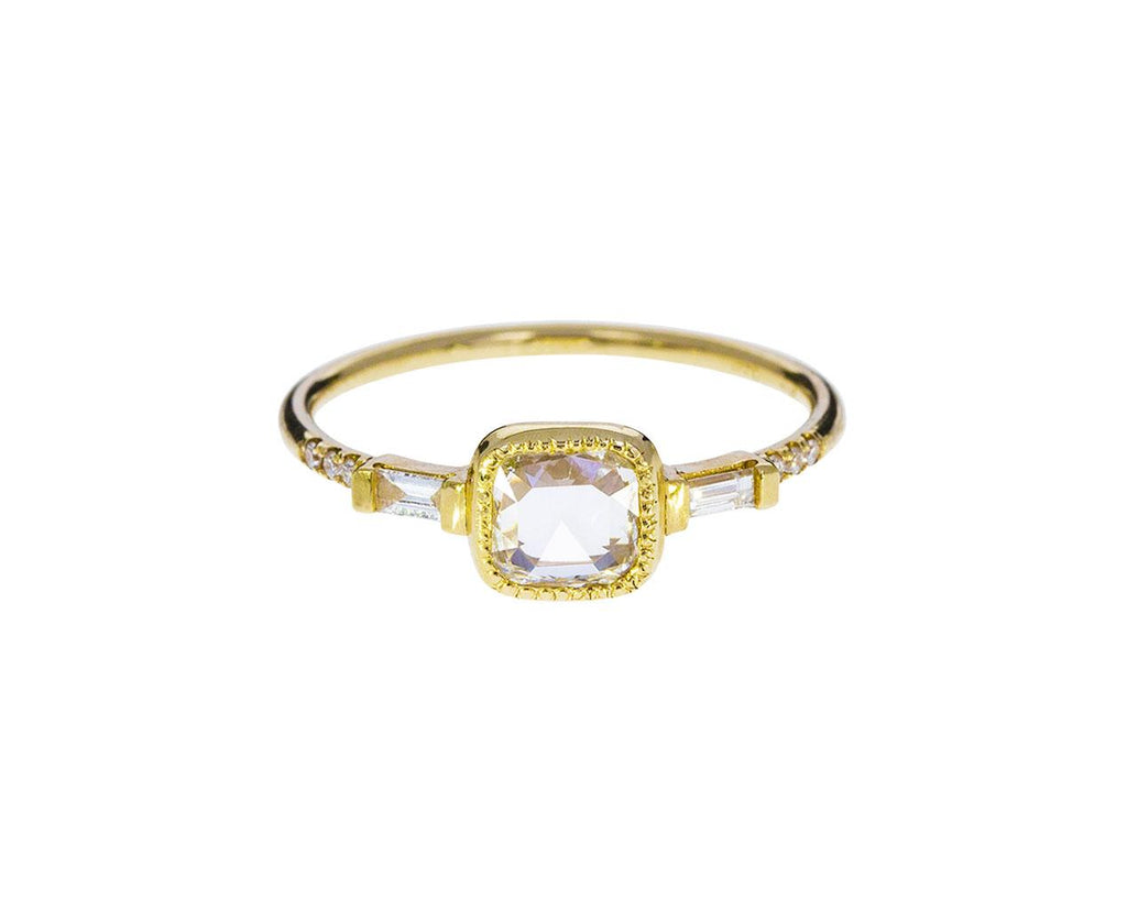 Equilibrium Cushion Rose Cut Diamond Solitaire - TWISTonline