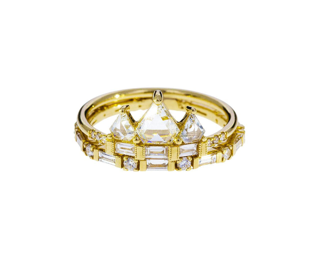 Geometric Diamond Crown Ring - TWISTonline