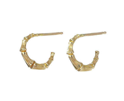 Mini Round Doorknocker Hoop Earrings - TWISTonline