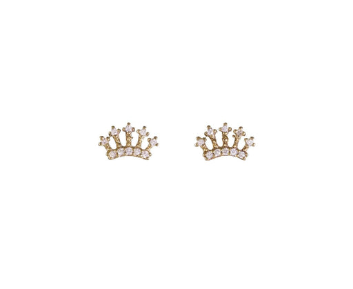 Mini Diamond Crown Stud Earrings - TWISTonline