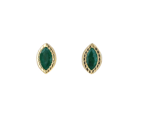 Marquise Emerald Earrings