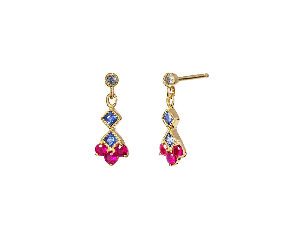 Ruby and Sapphire Momentum Earrings - TWISTonline