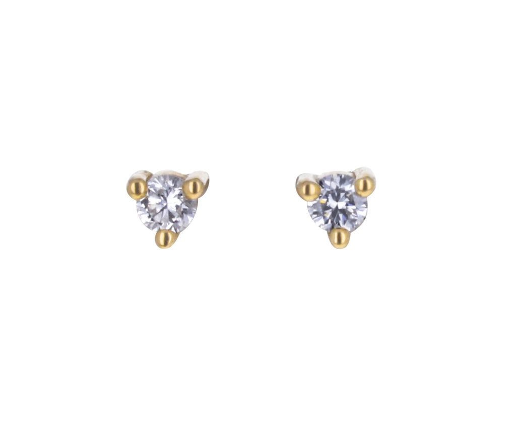 Tiny Diamond Dot Stud Earrings