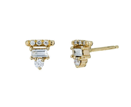 Diamond Baguette Bar Earrings - TWISTonline