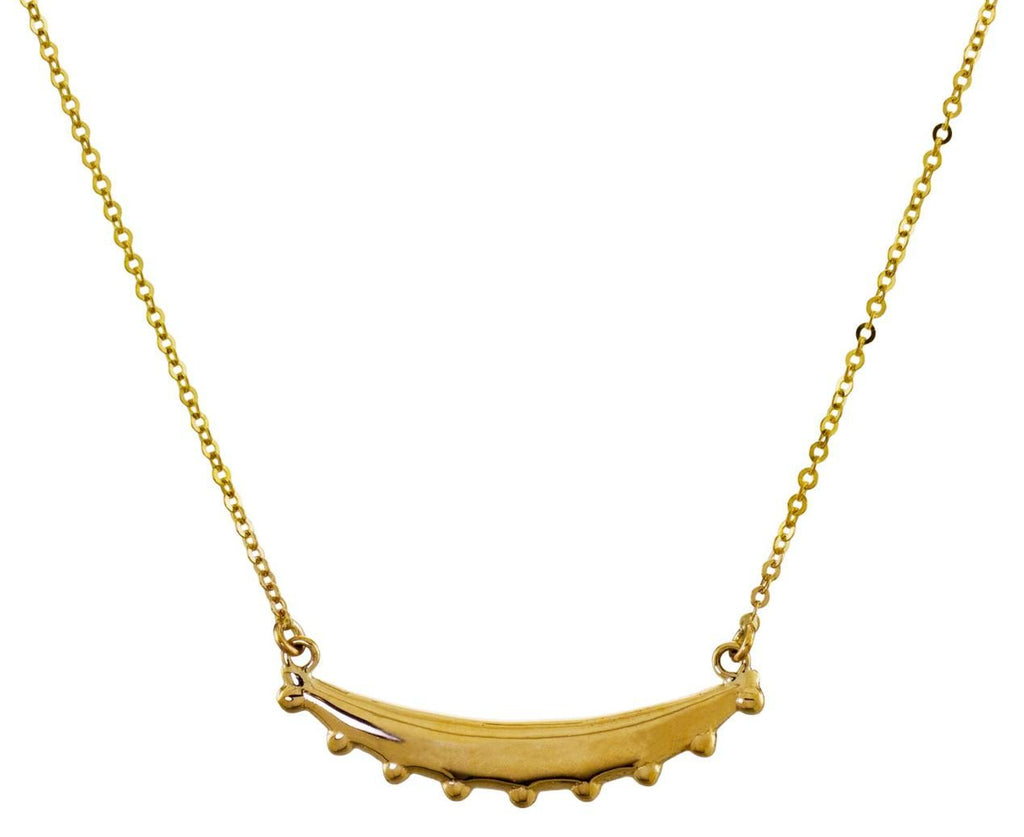 Studded Moon Pendant Necklace - TWISTonline