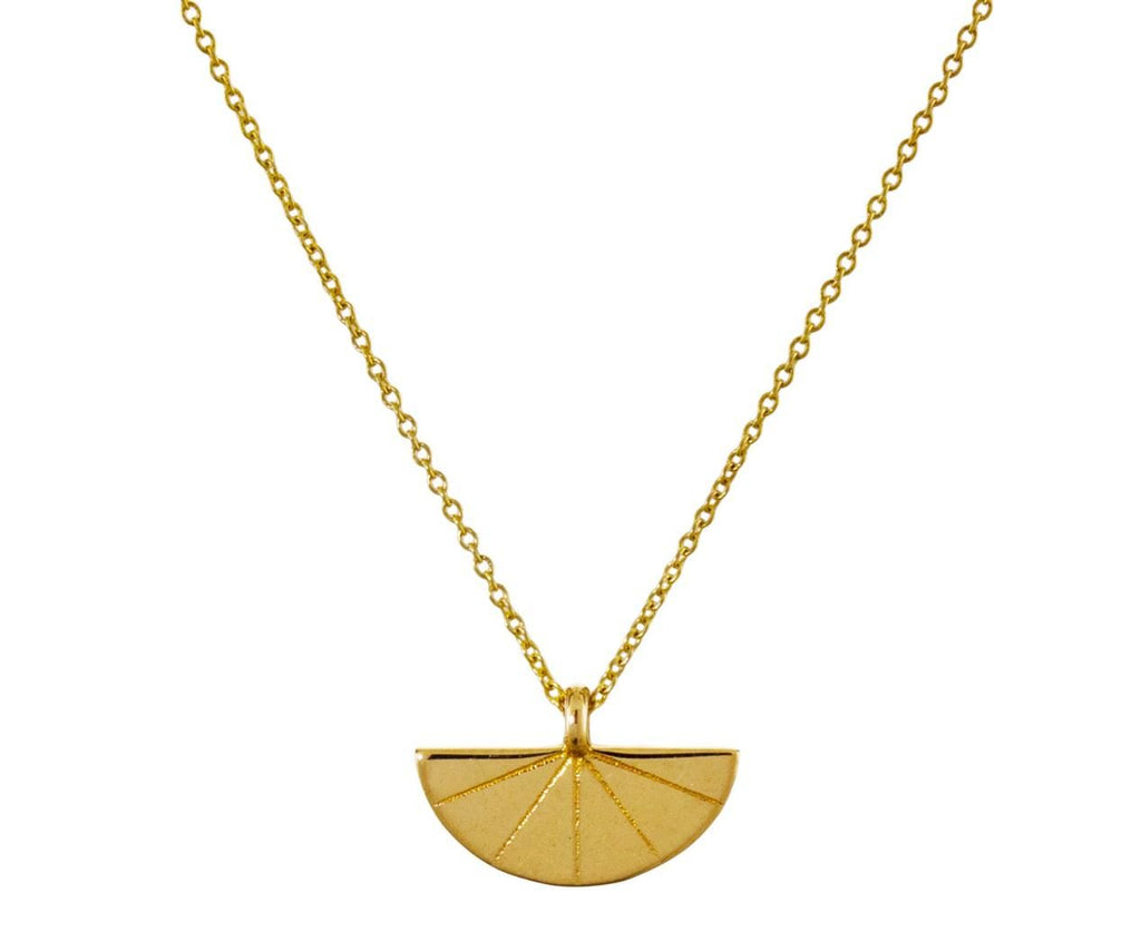 Deco Fan Pendant Necklace - TWISTonline