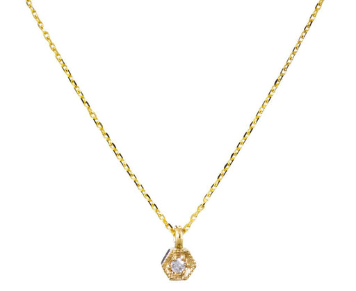Tiny Diamond Hexagon Necklace - TWISTonline