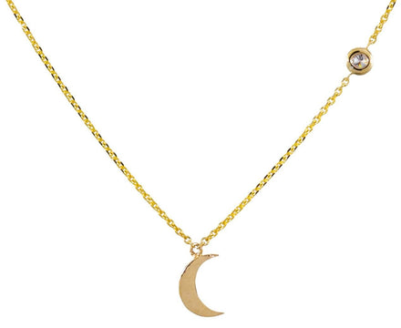 Moon and Diamond Stars Necklace - TWISTonline