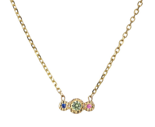 Green Sapphire Journey Necklace - TWISTonline
