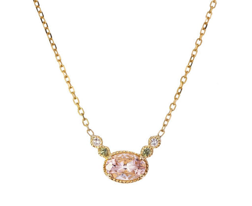 Morganite Dew Pendant Necklace - TWISTonline