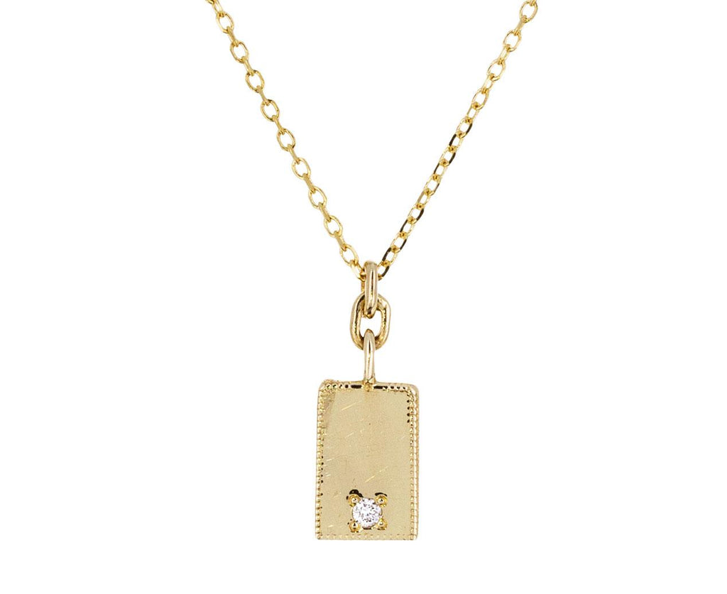 Diamond Rectangle Mirror Necklace - TWISTonline